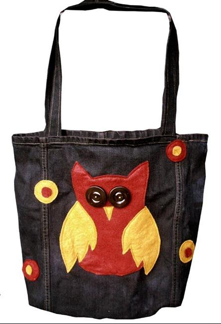 Art: Owly Trashion Tote by Artist April
