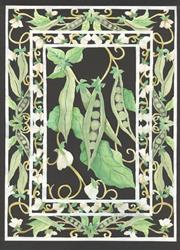 Art: scherenschnitte peas - sold by Artist pamela jean lacasse