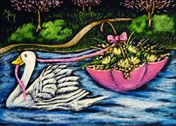 Art: Springtime Goose Parade by Artist Monique Morin Matson