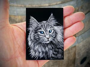 Detail Image for art Maine Coon  (SOLD)