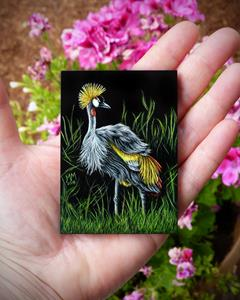 Detail Image for art African Crowned Crane  (SOLD)