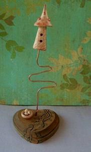 Detail Image for art Fairy Birdhouse Sculpture