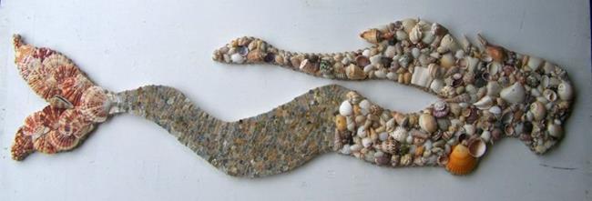 Seashell Mermaid 3 By Heather MBC From Nautical Marine Art Gallery