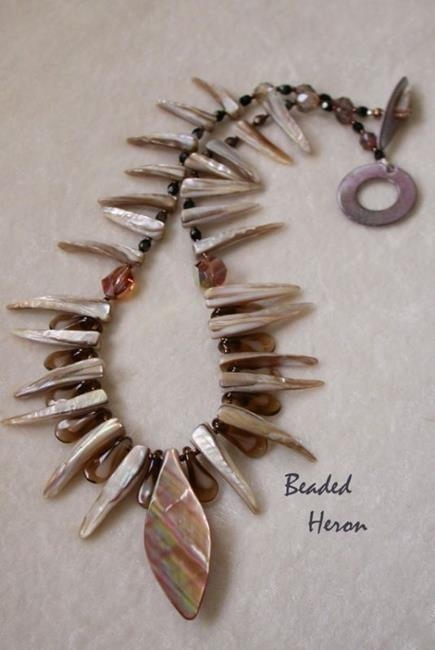 Art: Shell Tribal Necklace by Artist Stephanie M. Daigle
