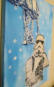 Detail Image for art Graffiti Pop Art Star Wars Stormtrooper Glitter