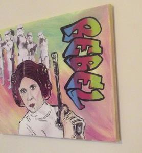 Detail Image for art Princess Leia Star Wars Rebel Original Graffiti Art