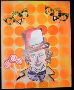 Detail Image for art Willy Wonka Graffiti Pop Art Original