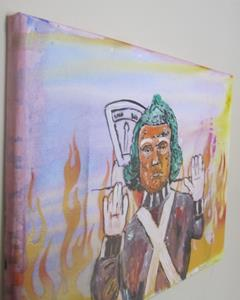 Detail Image for art Trump Umploopa Original Graffiti Spray Paint Pop Art Ready 2 Hang 11x14