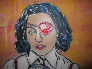 Detail Image for art Madonna Madam X Original Pop Urban Graffiti