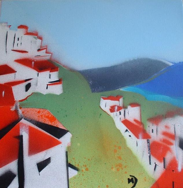 Art: Spanish Hills by Artist Martin Devine