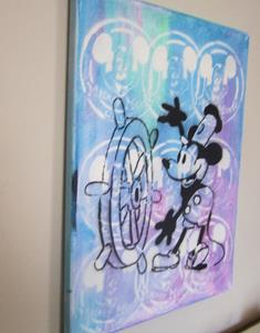 Detail Image for art Mickey Mouse Steamboat Willie Original Pop Graffiti Art