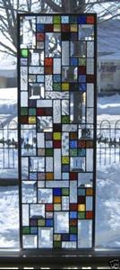 Detail Image for art Jazzy Stained Glass Sidelight Window Panel