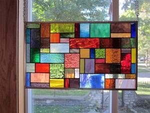 Detail Image for art Surge Stained Glass Window Panel Transom