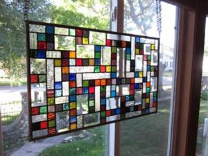Detail Image for art Vibrant Sampler Stained Glass Windows Panels