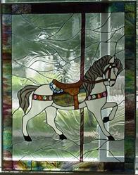 Art: 3rd carousel horse by Artist Phil Petersen