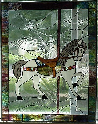 Art: 3rd carousel horse by Artist Phil Petersen