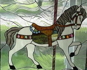 Detail Image for art 3rd carousel horse