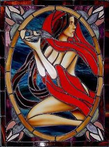 Detail Image for art Portrait of Valerie Meijer with Raven Skull