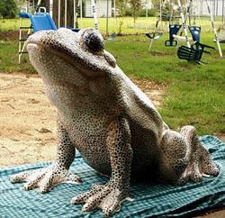 Art: Frogs-A-Hoppin' Mosaic by Artist Leanne Wildermuth