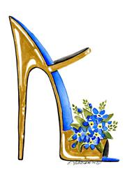 Art: Forget-me-not Stiletto #3 by Artist Elena Feliciano