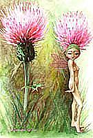 Art: THISTLE FAIRY by Artist Jen Thoman Thurston