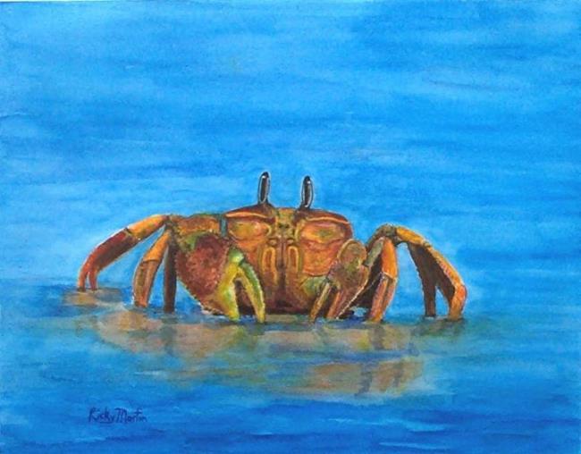 Art: CRABBY - sold by Artist Ulrike 'Ricky' Martin