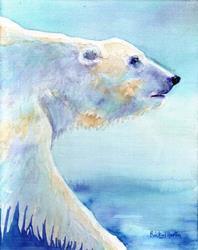 Art: Polar Bear Portrait - sold by Artist Ulrike 'Ricky' Martin