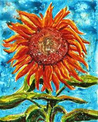 Art: Sunflower Impression by Artist Melinda Dalke