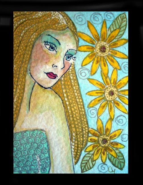 Art: Lady 14 (SOLD) by Artist Cyra R. Cancel
