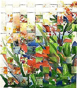 Art: Flower Weaving  by Artist Ulrike 'Ricky' Martin
