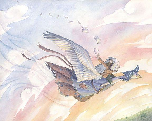 Art: Mother Goose by Artist Sara Burrier