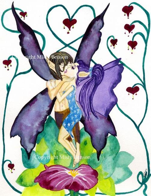 Art: Lovers by Artist Misty Monster (Benson)