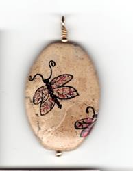 Art: Dragonfly Pendant by Artist Marcia Ruby