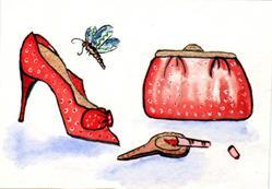Art: Red Shoe by Artist Marcia Ruby
