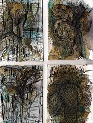 Art: Pen and Ink Doodle Painting 213three by Artist NoRaHzArT