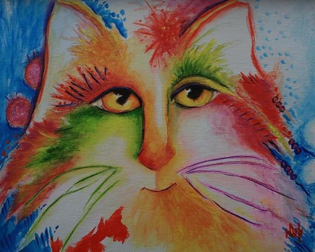 Art: April Cat by Artist Deb Harvey