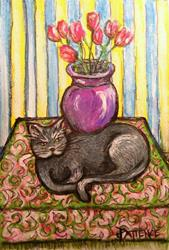 Art: Nibblefest Art Contest:  Cat Nap by Artist Patience