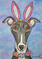 Art: Hoppy Hound by Artist Melinda Dalke