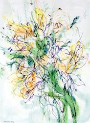 Art: David's Altar Lilies by Artist Mary Anne Carley