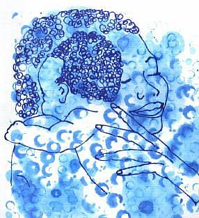 Art: Black Mother and Child Print by Artist Mary Anne Carley