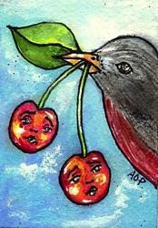 Art: ACEO Theme Week: Robbin' Robin by Artist Patience