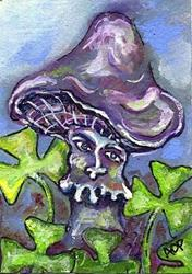Art: ACEO Theme Week: Lucky Fungus by Artist Patience