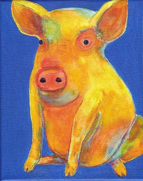 Art: Pop Piggledy Piglet by Artist Ulrike 'Ricky' Martin