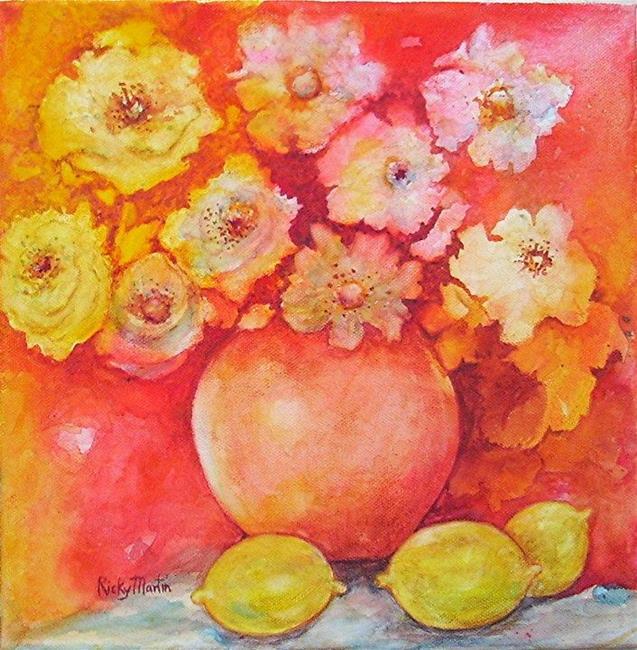 Art: Pinks and Lemons  by Artist Ulrike 'Ricky' Martin