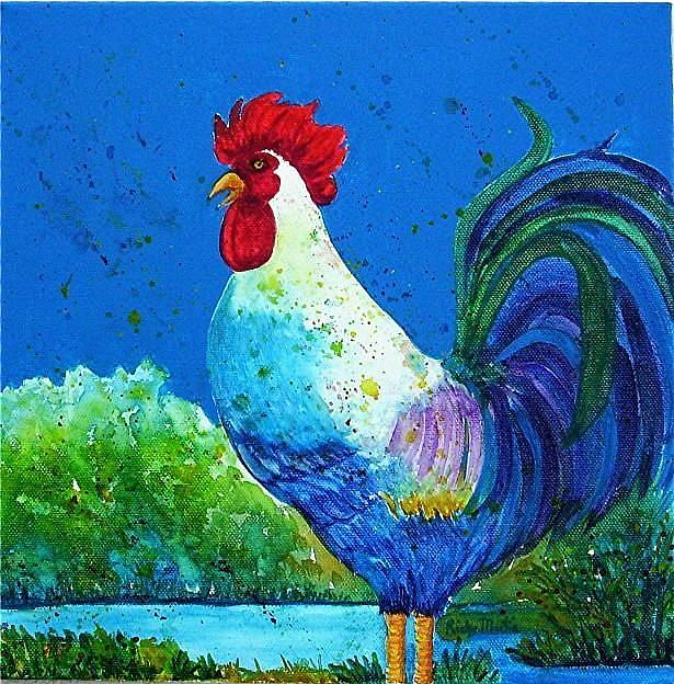 Art: Rooster (available in my ebay store) by Artist Ulrike 'Ricky' Martin