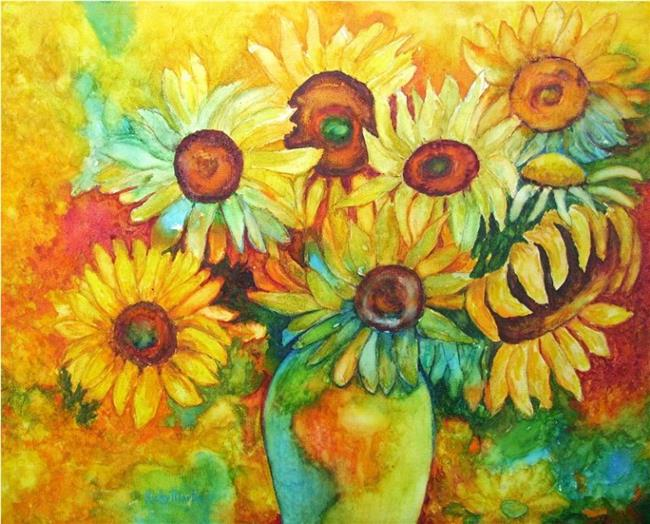 Art: Sunny Faces by Artist Ulrike 'Ricky' Martin