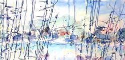 Art: Ice Pond by Artist Mary Anne Carley