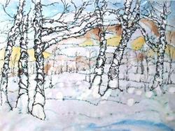 Art: Bright Winter Birches by Artist Mary Anne Carley