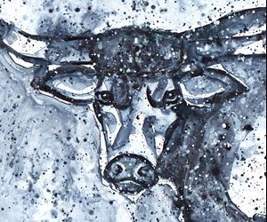 Detail Image for art Indigo Longhorn