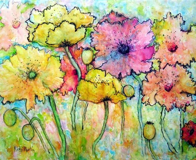 Art: Swaying Poppies - available in my ebay store by Artist Ulrike 'Ricky' Martin